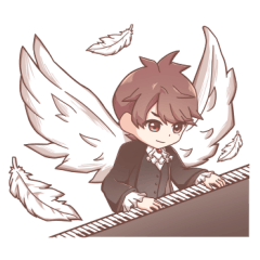 V.K - Wings of Piano スタンプ