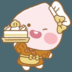 [LINEスタンプ] もりのケーキ屋さん アピーチ