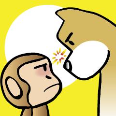 [LINEスタンプ] 犬猿の仲間 (1)