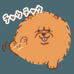ぽぽちと犬のダジャレスタンプ
