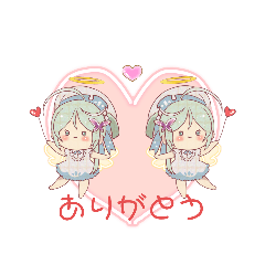 [LINEスタンプ] 天使で乙女な女の子スタンプ