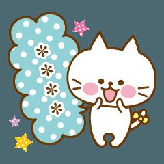 かわいいネコのカスタムスタンプ