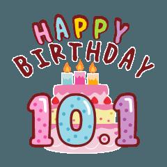 [LINEスタンプ] 動く!10月1日~10月16日の誕生日のお祝い