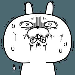 [LINEスタンプ] 激しく動く!顔芸うさぎ16
