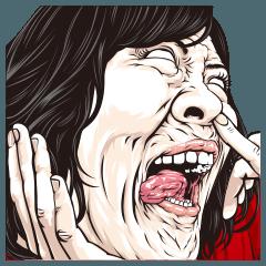 [LINEスタンプ] みんなの変顔 BIG
