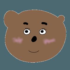 片耳のでかいクマ