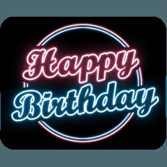 [LINEスタンプ] お祝い&誕生日☆80's風