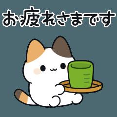 [LINEスタンプ] 短足な三毛猫さん敬語