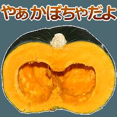 [LINEスタンプ] かぼちゃ。