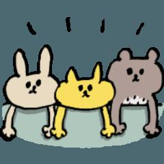 [LINEスタンプ] シュールで無口な動物たち