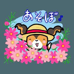 パピーぽぽのお花のスタンプ
