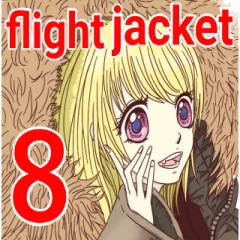 [LINEスタンプ] フライトジャケットーズ 8