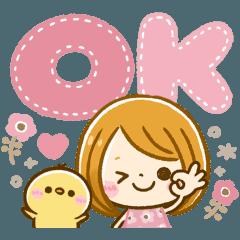 [LINEスタンプ] 動く♡大人可愛いGIRLの画像(メイン)