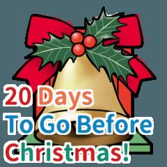 [LINEスタンプ] クリスマス前に♪アドベントカレンダーの画像(メイン)