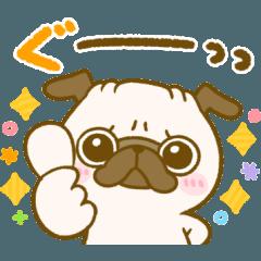 [LINEスタンプ] 可愛い♡デカ文字パグちゃん