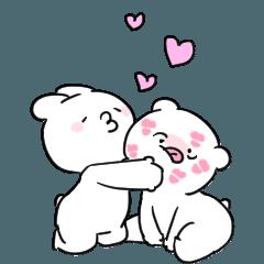 [LINEスタンプ] すこぶる動くちびウサギ&クマ【愛2】