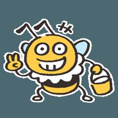 [LINEスタンプ] 村木さん家のミツバチ(管理番号83)
