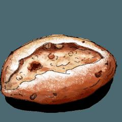 [LINEスタンプ] ふくらむパンの動くスタンプ♪