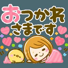 [LINEスタンプ] 大人可愛い♡デカ文字♡GIRL