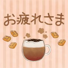 [LINEスタンプ] 動く☆季節の水彩えほん【11月12月】