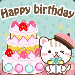 [LINEスタンプ] 大人のためのお祝い・誕生日・ありがとう
