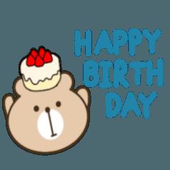 [LINEスタンプ] 毎年使える!【祝】誕生日・年末年始