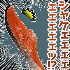 [LINEスタンプ] キモ激しく動く!シャケ