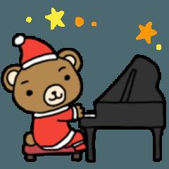 [LINEスタンプ] ピアノ弾きのクマさん 3