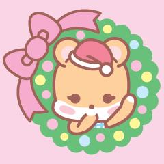 [LINEスタンプ] ロリポップクマ(クリスマスとお正月)