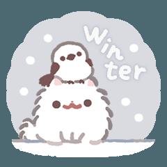 [LINEスタンプ] ポメラニアンもち -冬編-