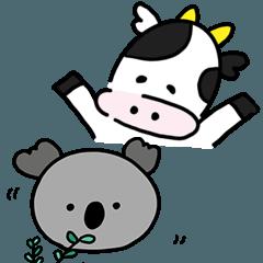 [LINEスタンプ] 動物【6種】の気軽なスタンプ
