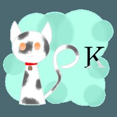 [LINEスタンプ] 斑猫 友達等 シンプル 日常言葉 猫