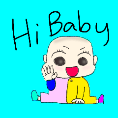 [LINEスタンプ] Hi.baby!!