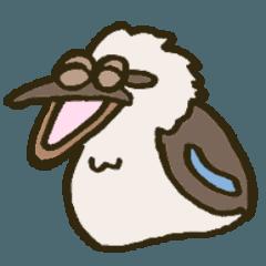 [LINEスタンプ] 大きな目の鳥 しんぷる