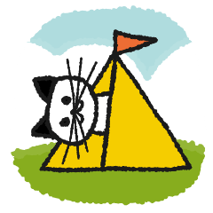 [LINEスタンプ] やまねこさんのかわいいキャンプスタンプ
