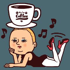 [LINEスタンプ] カフェぷりてぃツイン