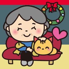 [LINEスタンプ] ばぁばの❤️冬のBigスタンプ❤️中国繁体字