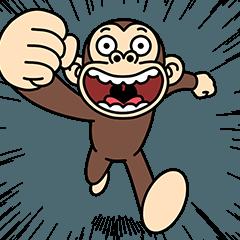 [LINEスタンプ] イラッと飛び出す★お猿さん セレクション