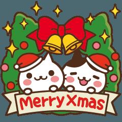 [LINEスタンプ] ねこの缶詰め【飛び出す☆クリスマス】