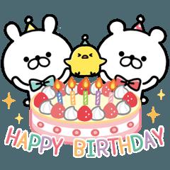 [LINEスタンプ] 【背景が動く】定番☆お誕生日&お祝い