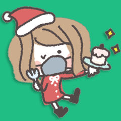 [LINEスタンプ] マスクガールー冬編