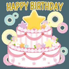 [LINEスタンプ] 飛び出す!お誕生日&お祝い