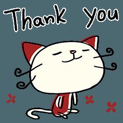 [LINEスタンプ] ありがとう☆ねこのバンスキー