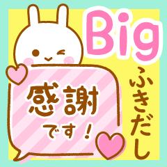 [LINEスタンプ] うさぴの可愛い吹き出しスタンプ BIGの画像(メイン)