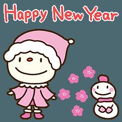 [LINEスタンプ] 毎年使える冬行事☆てるてるうさぎ