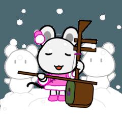 [LINEスタンプ] 動くチュー子 冬