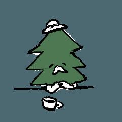 [LINEスタンプ] もみの木おじさん