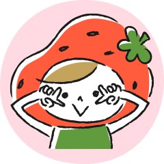 [LINEスタンプ] フレッシュなフルーツ苺ちゃんのスタンプ