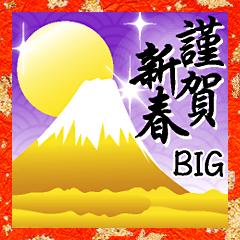 [LINEスタンプ] BIG!☆☆ゴールドなお正月☆☆年末年始☆冬