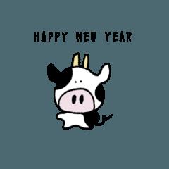 [LINEスタンプ] 牛からのあけおめスタンプ
